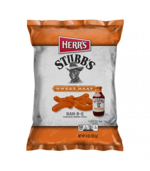 Herr's Stubb's Sweet Heat Bar-B-Q Curls 6.5oz (170.1g) Snacks and Chips Herr's