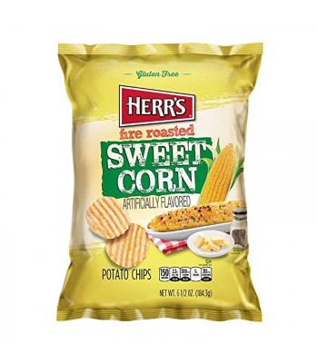 Herr's Fire Roasted Sweetcorn Potato Chips - 6.5oz (184.3g) Snacks and Chips Herr's