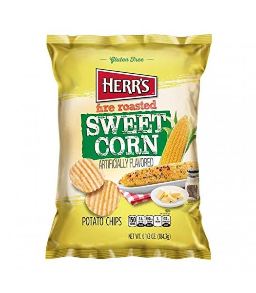 Herr's Fire Roasted Sweetcorn Potato Chips - 6.5oz (184.3g) Snacks and Chips Herr's