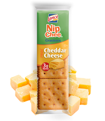 Lance Crackers NipChee Crackers Cheddar Cheese 1.375oz (39g) Snacks and Chips