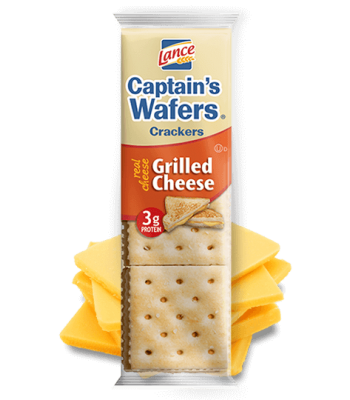 Lance Captain's Wafers Crackers Grilled Cheese 1.375oz (39g) Snacks and Chips