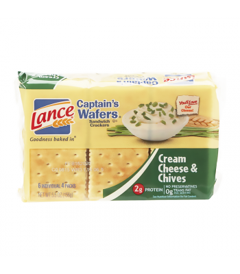 Lance Captain's Wafers Crackers Cream Cheese & Chives - 5.5oz (156g) Food and Groceries