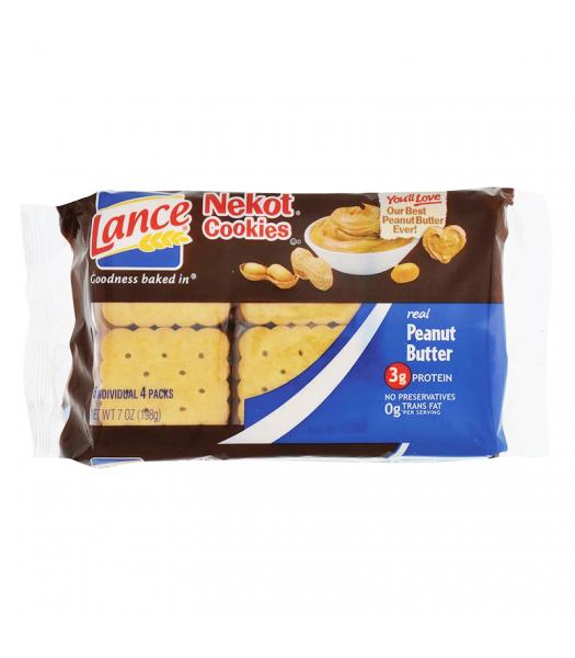 Lance Nekot Cookies Peanut Butter - 6.9oz (195g) Food and Groceries