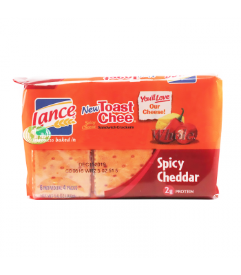Lance Toast Chee Sandwich Crackers Spicy Cheddar - 5.6oz (160g) Food and Groceries