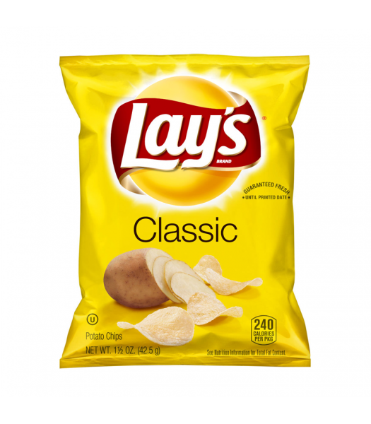 Lay's Classic Potato Chips - 1.5oz (42.5g) Snacks and Chips