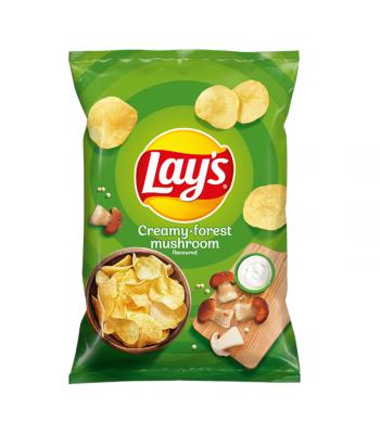 Lay's Creamy Forest Mushroom Flavoured Potato Crisps - 140g (EU) Snacks and Chips Frito-Lay