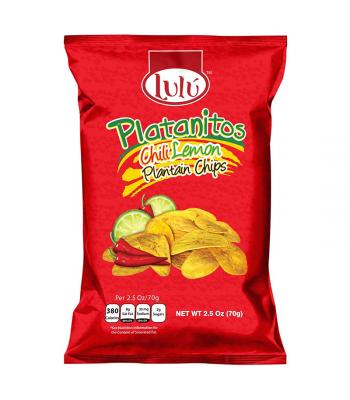 Lulú Platanitos Chili Lemon Plantain Chips - 2.5oz (70g)