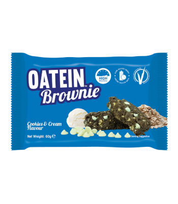Oatein Cookie & Cream Brownie - 60g Food and Groceries