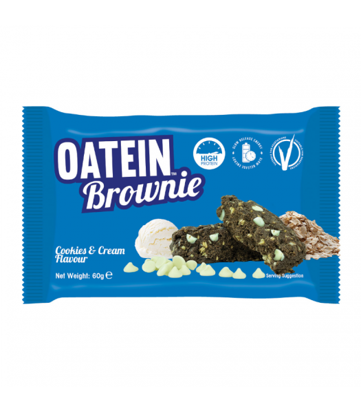 Oatein Cookie & Cream Brownie - 60g Food and Groceries