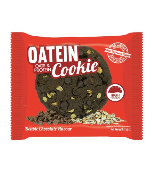 Oatein Double Chocolate Chip Cookie - 75g Food and Groceries