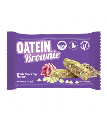 Oatein White Chocolate Chip Brownie - 60g Food and Groceries