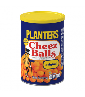 Planters Cheez Balls Original Flavour - 2.75oz (77.9g) Snacks and Chips