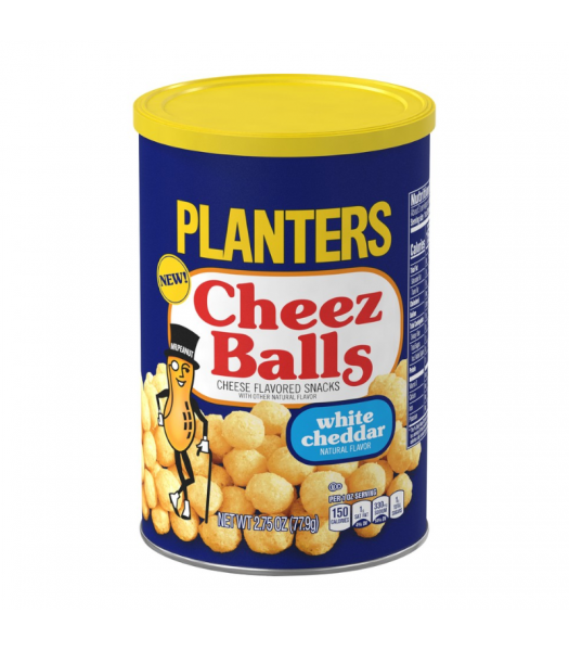 Planters Cheez Balls White Cheddar - 2.75oz (77.9g) Snacks and Chips