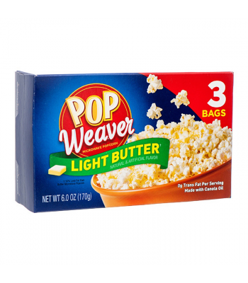 Clearance Special - Pop Weaver Light Butter Popcorn - 3PK (170g) **Best Before: 17 Feb 21** Clearance Zone