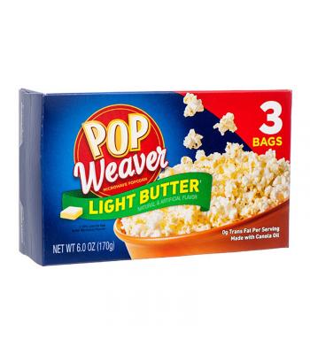 Pop Weaver Light Butter Popcorn - 3PK (196.50g) Snacks and Chips