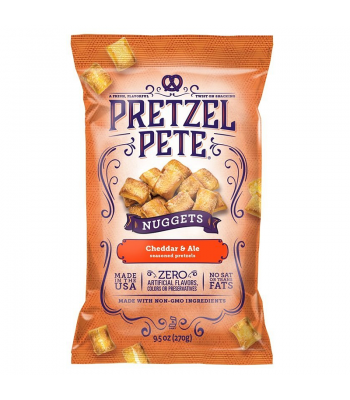 Clearance Special - Pretzel Pete - Cheddar & Ale Pretzel Nuggets 9.5oz (270g) **Best Before: 31 August 18** Clearance Zone
