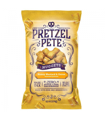 Pretzel Pete - Honey Mustard & Onion Pretzel Nuggets 9.5oz (270g) Pretzel Snacks