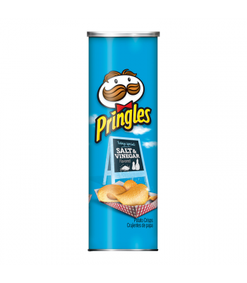Pringles Salt & Vinegar - 5.57oz (158g) Snacks and Chips Pringles