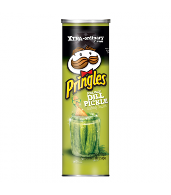 Pringles Xtra Screamin' Dill Pickle 5.96oz (168g) Snacks and Chips Pringles