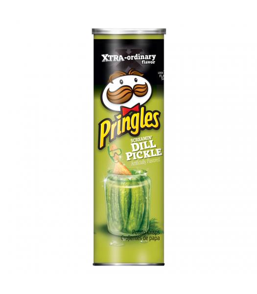 Pringles Xtra Screamin' Dill Pickle 5.96oz (168g) Snacks and Chips Pringles