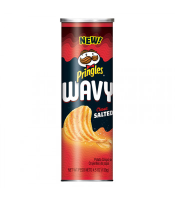Pringles Wavy Classic Salted - 4.5oz (130g) Snacks and Chips Pringles