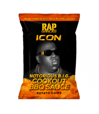 Rap Snacks Icon Notorious B.I.G. Cookout BBQ Sauce Potato Chips - 2.75oz (78g) Snacks and Chips
