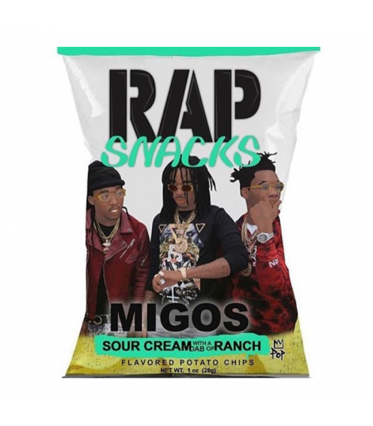 Rap Snacks Sour Cream & Ranch - 2.75oz (78g) Snacks and Chips