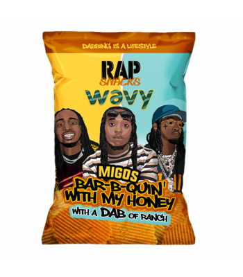 Rap Snacks Wavy Bar-B-Q Honey & Ranch - 2.75oz (78g) Snacks and Chips