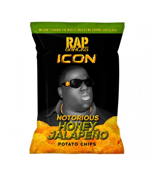 Rap Snacks Icon Notorious B.I.G. Honey Jalapeño Potato Chips - 2.75oz (78g) Snacks and Chips