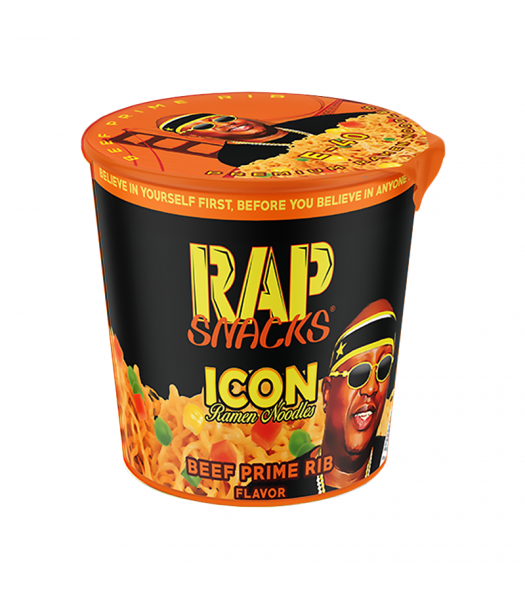 Rap Snacks Icon Ramen Noodles - Beef Prime Rib Ramen Noodles E-40 - 2.25oz (64g) Pasta & Noodles Rap Snacks