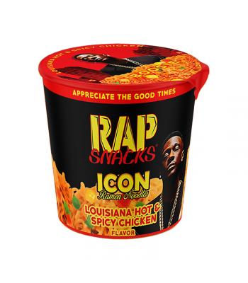 Rap Snacks Icon Ramen Noodles - Louisiana Hot & Spicy Chicken Boosie - 2.25oz (64g) Pasta & Noodles Rap Snacks