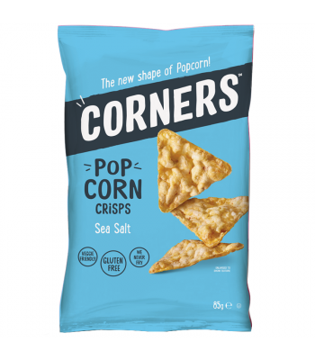 Corners - Pop Corn Crisps - Sea Salt (85g) Snacks and Chips