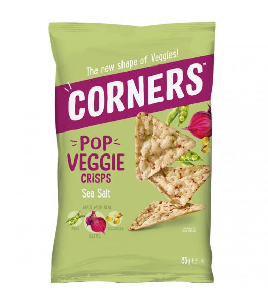 Corners - Pop Veggie Crisps (Chickpea, Beetroot & Pea) - Sea Salt (85g) Snacks and Chips