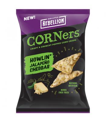 Rebellion Snacks - Howlin' Jalapeno Cheddar Pop Corners (85g) Crisps & Chips