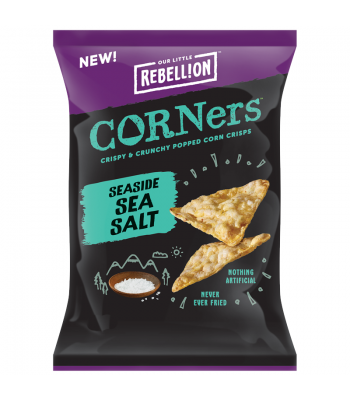 Rebellion Snacks - Seaside Sea Salt Pop Corners (85g) Crisps & Chips
