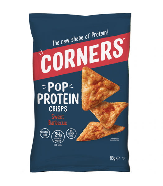 Corners - Pop Protein Crisps - Sweet Barbecue (85g) Snacks and Chips