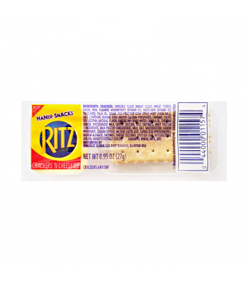 Clearance Special - Ritz Crackers & Cheesy Dip Handi-Snack - 0.95oz (27g) **Best Before: May 20** Clearance Zone