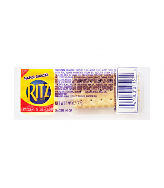 Ritz Crackers & Cheesy Dip Handi-Snack - 0.95oz (27g) Snacks and Chips Nabisco