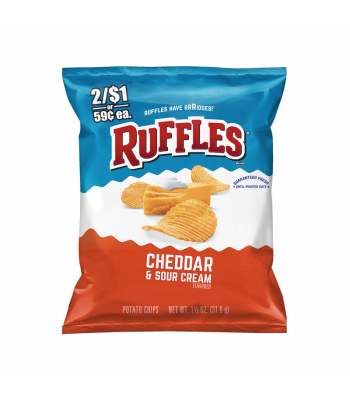 Ruffles Cheddar & Sour Cream Chips - 1.125oz (31.8g) Snacks and Chips Ruffles