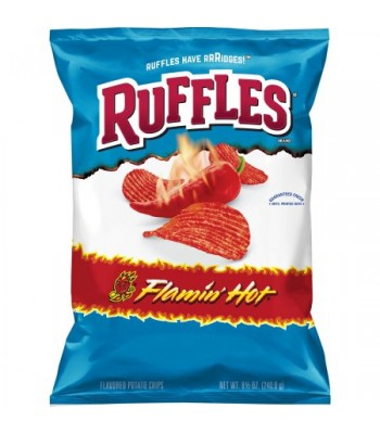 Ruffles Flamin' Hot Potato Chips 6.5oz (184g)  Snacks and Chips Ruffles
