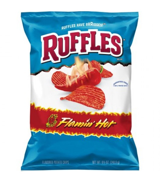 Ruffles Flamin' Hot Potato Chips 6.5oz (184g)  Snacks and Chips Ruffles