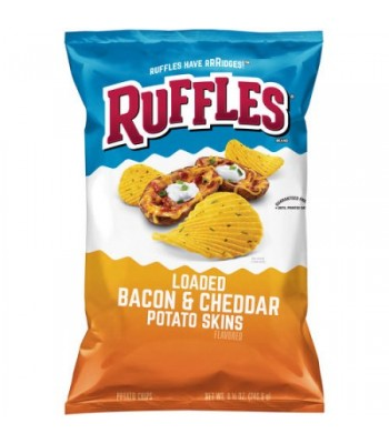 Ruffles Loaded Bacon Cheddar Potato Chips 6.5oz (184g)  Snacks and Chips Ruffles
