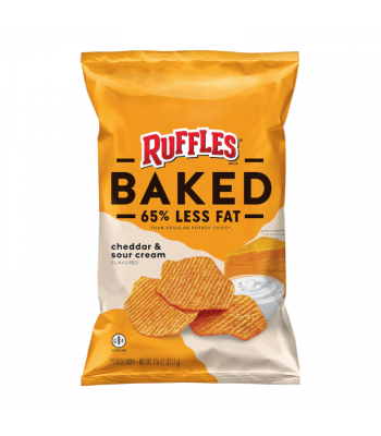 Ruffles Oven Baked Cheddar & Sour Cream - 6oz (170g) Snacks and Chips Ruffles