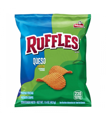 Ruffles Potato Chips Queso - 1.5oz (42.5g) Snacks and Chips Frito-Lay