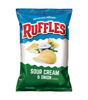 Ruffles Potato Chips Sour Cream & Onion 6.5oz (184.2g) Snacks and Chips Ruffles