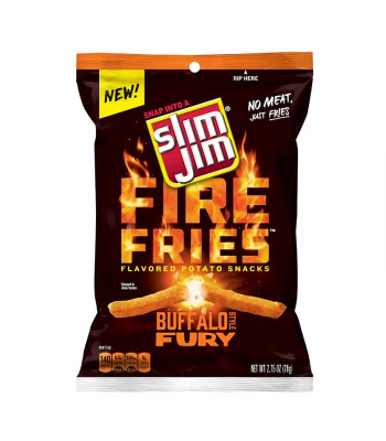 Slim Jims Fire Fries Buffalo Style Fury Potato Snacks - 2.75oz (78g)