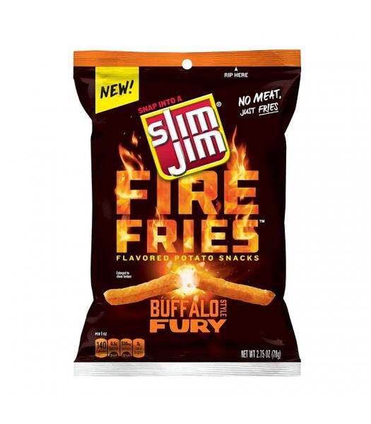 Slim Jims Fire Fries Buffalo Style Fury Potato Snacks - 2.75oz (78g)