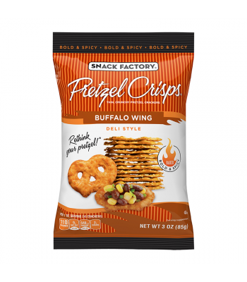 Snack Factory Pretzel Crisps Buffalo Wing 3oz (85g) Food and Groceries Snack Factory