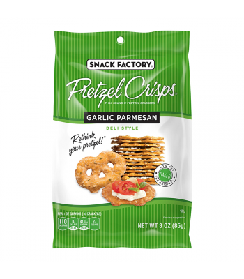 Snack Factory Pretzel Crisps Garlic Parmesan 3oz (85g) Food and Groceries