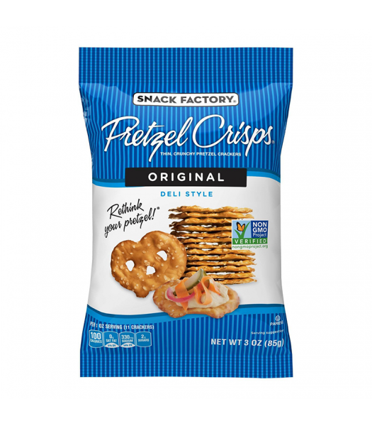 Snack Factory Pretzel Crisps Original 3oz (85g) Food and Groceries Snack Factory